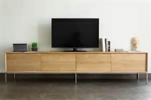 meuble tv en ch 234 ne massif 2 tiroirs 2 portes rabattables