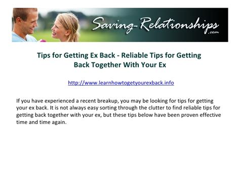 12 Tips On Getting Your Ex by Tips For Getting Ex Back Reliable Tips For Getting Back