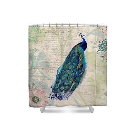 Peacock Shower Curtain Bird Shower Curtain Bird Bathroom