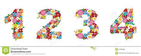 numeri clipart la sorgente fiorisce i numeri 1234 illustrazione