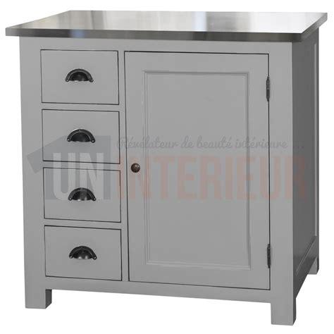 tiroirs de cuisine rangement de cuisine en pin massif 4 tiroirs 1 porte
