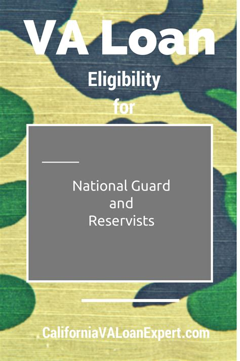 va housing loan eligibility va loan eligibility for national guard and reservists