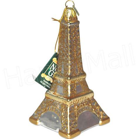 cut crystal eiffel tower xmas ornament eiffel tower glass ornament 5 5 quot h
