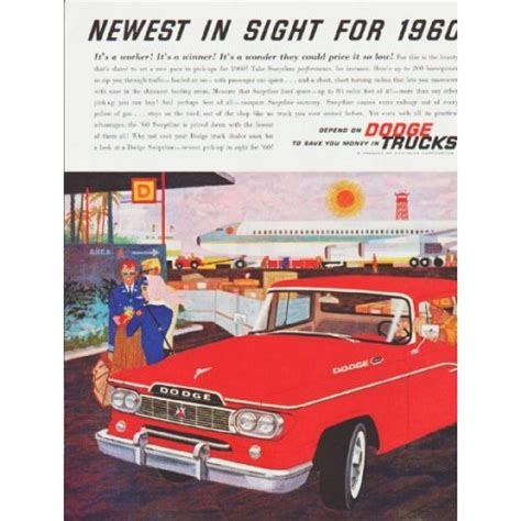 newest dodge truck 1960 dodge trucks vintage ad quot newest in sight quot model