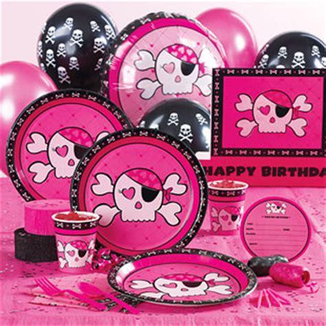Skull Birthday Decorations by Pink Skull And Cross Bones Birthday Cafemom