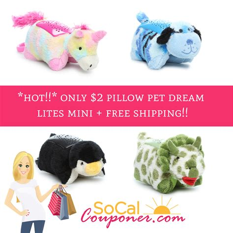 Dreamlight Pillow Pets by Only 2 Pillow Pet Lites Mini Free