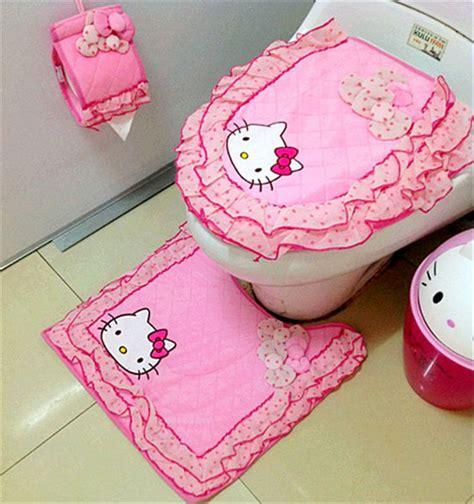 hello kitty bathroom games tapetes estera tapa del inodoro de ba 241 o decoraci 243 n del