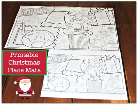 Printable Place Mats by Entertain With This Adorable Printable Placemat