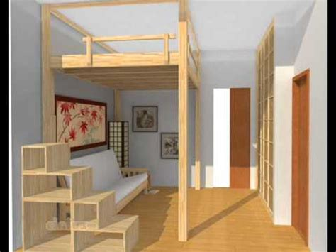 Home Interior Design Ideas For Small Spaces by Small Apartment Ideas Loft Bed Youtube