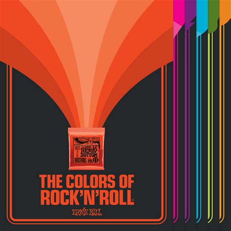 rock colors colors of rock n roll posters ernie