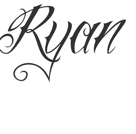 ryan tattoo cursive name tattoos search tattoos