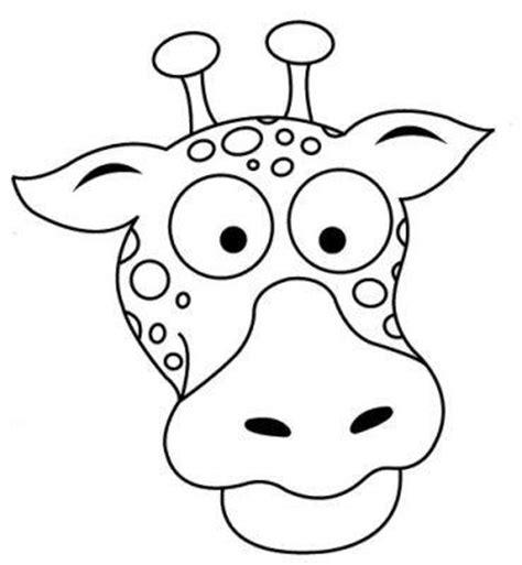 imagenes de jirafas animadas solo la cara m 225 scaras de animales para colorear y recortar