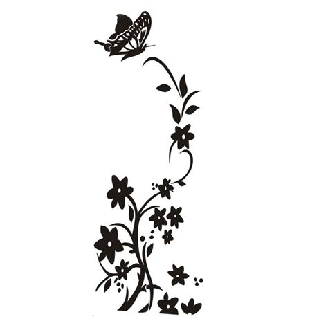 Emblem Stiker Timbul Nos Hitam Type 02 aliexpress buy white and black new butterfly flower vine refrigerator wall stickers