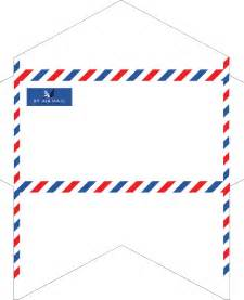 old fashioned correspondence airmail envelopes