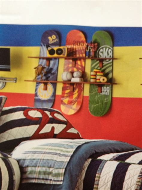 skateboard themed bedroom skateboard shelves bedrooms pinterest shelves