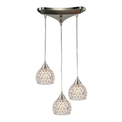 Pendant Lighting With Crystals Multi Light Pendant Light With Clear Glass And 3 Lights 10341 3 Destination Lighting