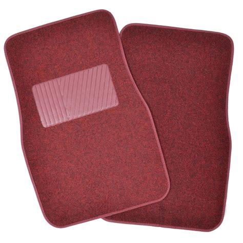 Car Floor Mat Heel Pad by Solid Burgundy Premium Car Auto Thick Carpet Floor Mat W