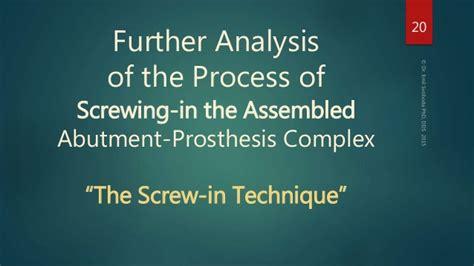 Dental Implant Prosthetics 2nd Edition vs cement for dental implant prosthesis installation part 1 th