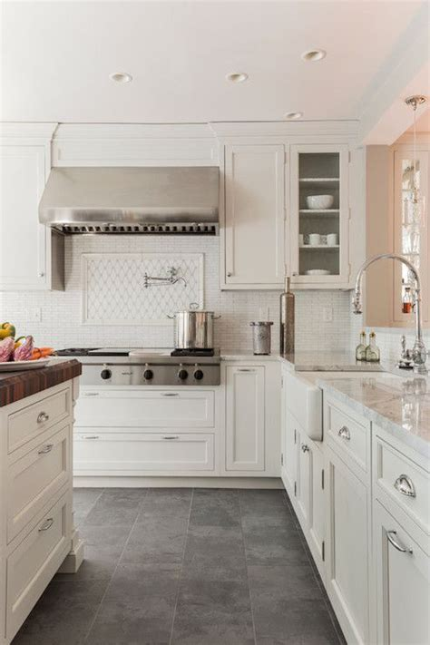 white kitchen cabinets tile floor 25 best ideas about grey kitchen floor on pinterest