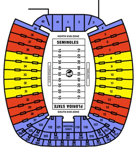 florida state stadium seating chart florida state seminoles tickets for sale schedules and
