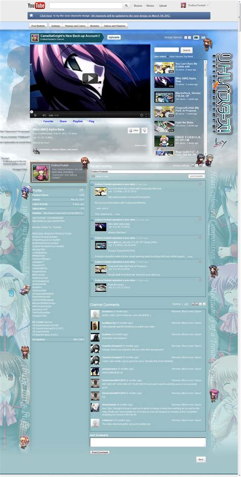 youtube shop layout old youtube channel layout by endlesstsubaki on deviantart