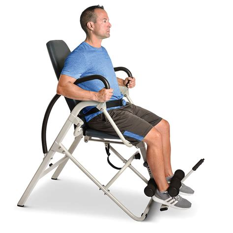 Inversion Chairs by The Easiest Use Inversion Chair Hammacher Schlemmer