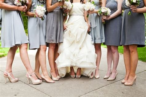 what of shoes should i use for light gray bridesmaid