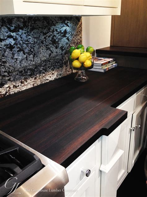 Wenge Countertop by Custom Wenge Wood Countertop Displayed At Kbis 2014