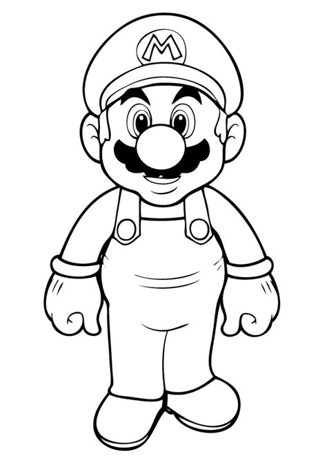Super Mario Coloring Page Printable | free printable mario coloring pages for kids