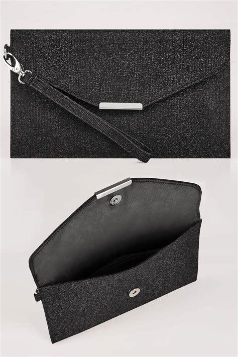 Sale Tasya Bag Set 4 In 1 Limited Edition black shimmer envelope clutch bag