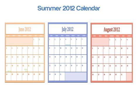 Calendar 6 Months From Today Summer Months Calender Calendar Template 2016
