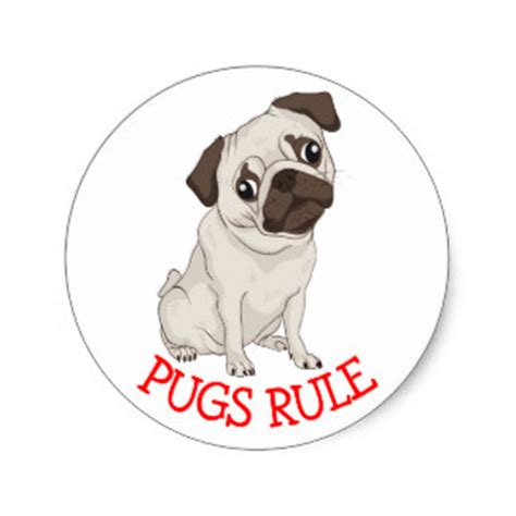 puppy 6 pug vs pug books pug stickers zazzle