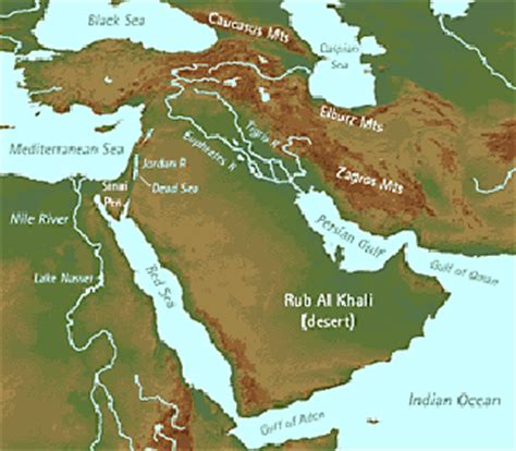middle east map topographical historical map archive