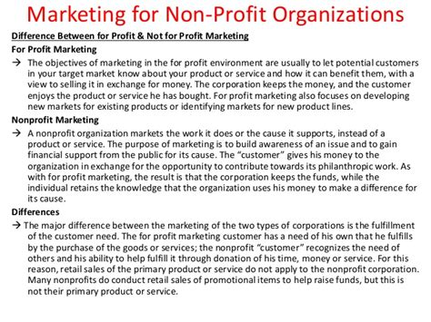Marketing For Non Profit Organizations Marketing Plan Template For Non Profit Organization