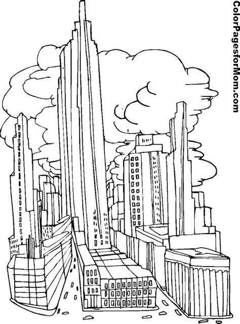 twin towers coloring pages