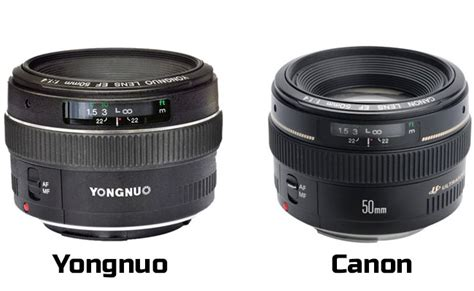 Yongnuo 50mm yongnuo enters lens market with clone of canon 50mm f 1 4