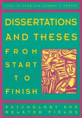 dissertations and theses from start to finish christine olney just launched on in usa