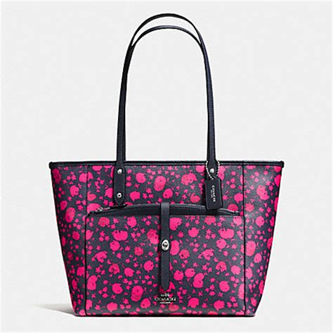 Coach Ocelot Prairie City Zip Tote coach f57283 city tote with pouch in prairie calico