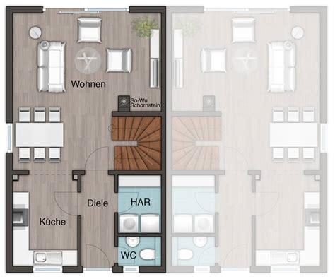 reihenhaus grundriss modern das doppelhaus mainz 128 modern grundriss erdgeschoss