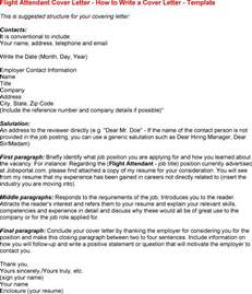 Cover Letter For Cabin Crew by Flight Attendant Cover Letter Cover Letter Database