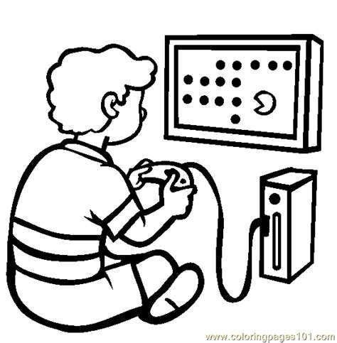 coloring pages the video game console entertainment