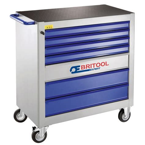 Drawer Module by Britool Expert E010101 7 Drawer 4 Module Roller Cabinet Grey