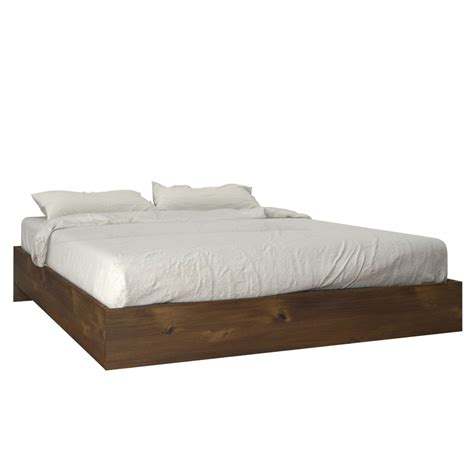 full bed platform truffle full size platform bed nexera 401254