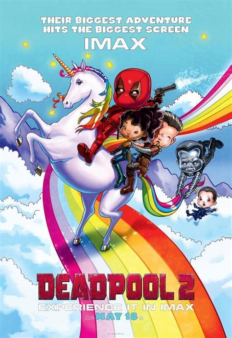 dealpool marvel hero poster film movie star american style deadpool 2 imax poster released