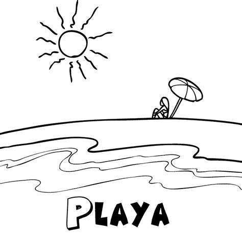 dibujos infantiles para colorear del verano playa en verano dibujos para colorear