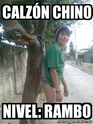 Chino Meme - meme personalizado calz 243 n chino nivel rambo 3605295