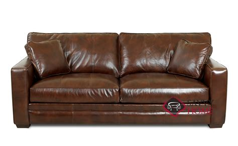 chandler leather sleeper sofas by savvy is fully