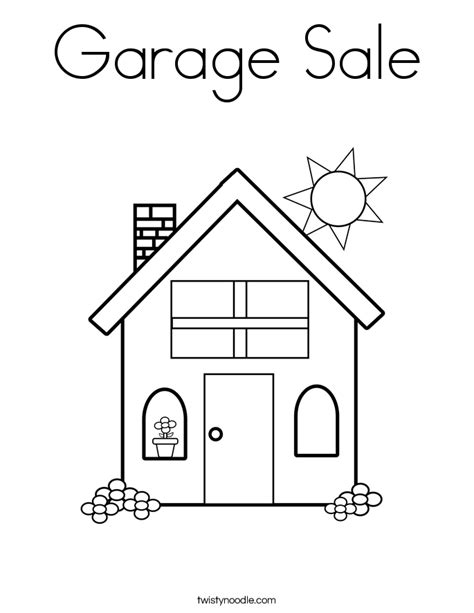 coloring book sles garage sale coloring page twisty noodle