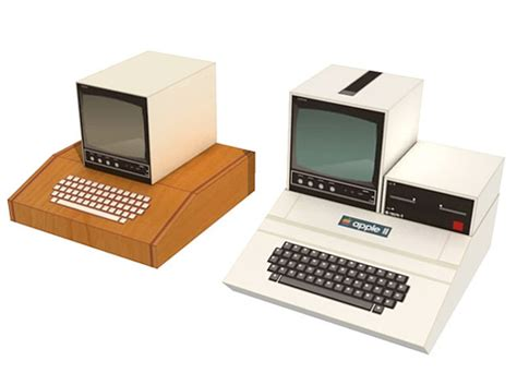 papercraft apple i and apple ii computers a is for apple