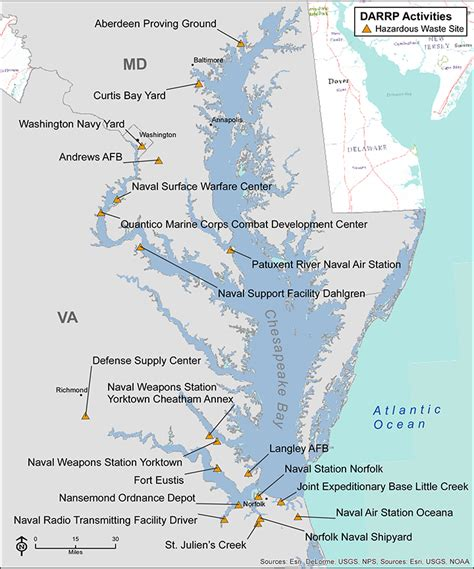 map of hazardous waste sites on the chesapeake bay overcoming the unique challenges of